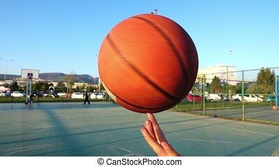 Basketball Spinning on Finger