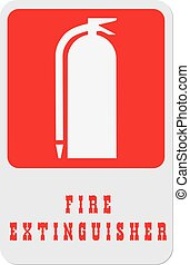 Find a fire extinguisher - This symbol indicates to find a...