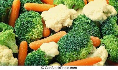 Mixed Vegetables Rotating Closeup