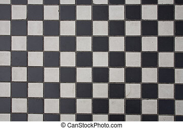 Like a chessboard - flore with black and white cells