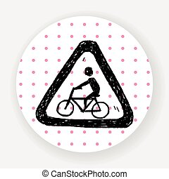 bicycle sign doodle