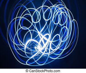 Abstract slow speed light painting Freeze Light