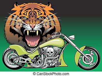 motorbike with animal background - my original motorbike...