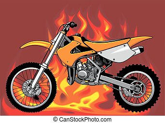 my original motorbike with fire background - my original...