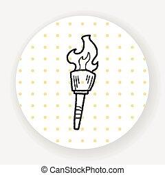 torch doodle