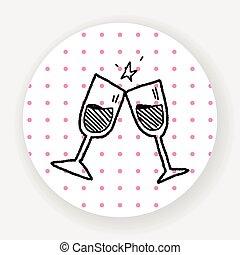 cheers doodle