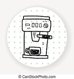 coffee machine doodle