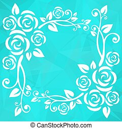 mint abstract floral border