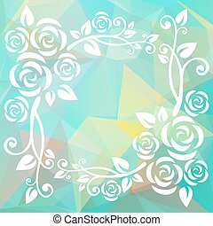abstract floral mint border