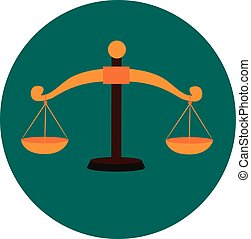 Weighing Scale - Vector Illustration of Weighing Scale