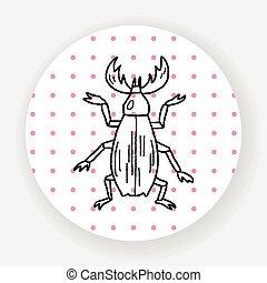beetle doodle