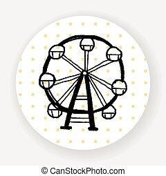 Ferris wheel doodle
