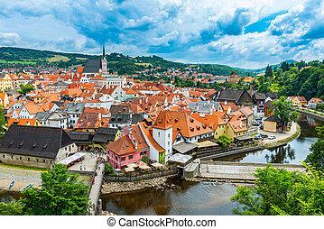 Cesky Krumlov - View on the Old Town Cesky Krumlov, Czech...