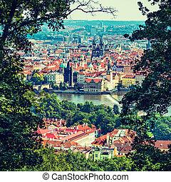 Prague - bird's-eye view on the Prague
