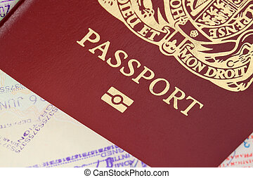passport - British biometric passport on travel visa,s