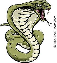 King Cobra Snake - An illustration of a king cobra snake...