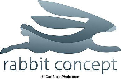 Rabbit Concept Icon - Rabbit concept icon of a stylised...