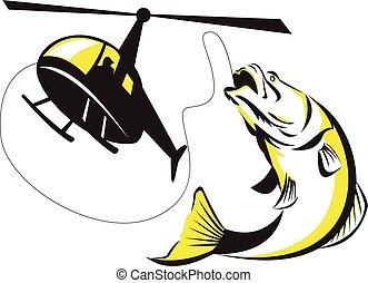 Barramundi Heli Fishing Retro