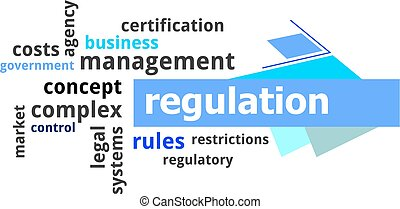 word cloud - regulation - A word cloud of regulation related...