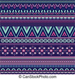 Geometric vector various strips motifs in different color...