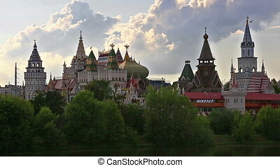 Kremlin in Izmailovo at sunny day, Moscow - Unique center of...