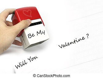 Love declaration - Will you be my valentine