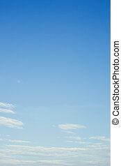 clear blue sky background - white cloud on clear blue sky...