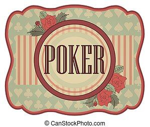 Vintage casino poker invitation
