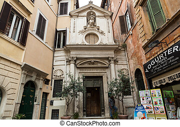 The church of Santa Barbara in Rome, Italy.