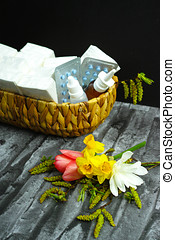 Allergy relief concept, seasonal allergens - pollen and flowers