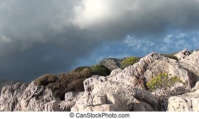 Thunderstorm clouds and rocks - Gorgeous thunderstorm clouds...