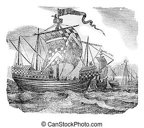 British ships during the reign of Edward IV, vintage...