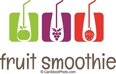 Illustration concept smoothies icons. vector