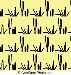 Cactus pattern vintage retro vector background illustration