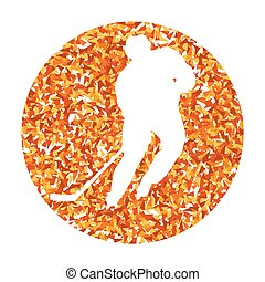 Hockey player vector background abstract illustration