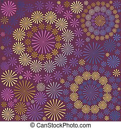 Abstract ornamental floral pattern background vector