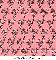 Tropical palm leaves vector background illustration vintage...