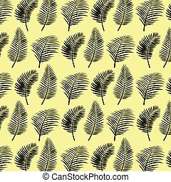 Tropical palm leaves vector background illustration vintage...