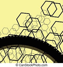 Bicycle vintage retro pattern background concept yellow...