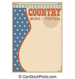 American Country music background with text