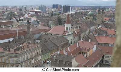 Sibiu Buildings View From Top - View of Sibiu city buiding...
