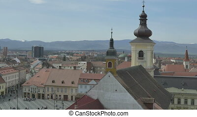 Sibiu Top View of City - Sibiu city top view of buildings...