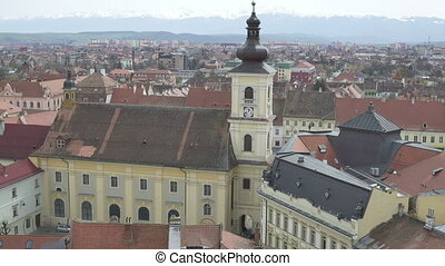 Hermanstadt Catholic Church - Top view of the Hermanstadt...