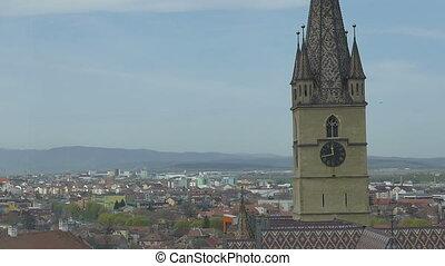 Sibiu Lutheran Cathedral View - View of Sibiu Lutheran...