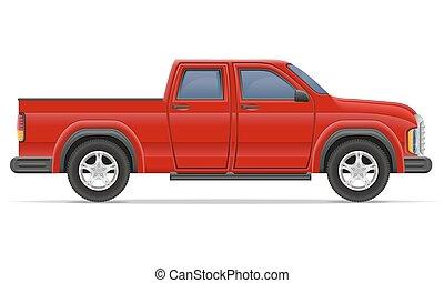 car pickup vector illustration