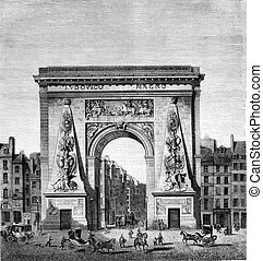 Reign of Louis XIV, Porte Saint-Denis, by Francois Blondel...