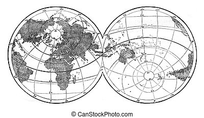 World map featuring evidence the unequal distribution of...