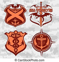 Navy military patch set - Navy military patches and badges -...
