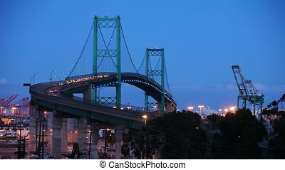 Timelapse of Vincent Thomas Bridge - Vincent Thomas Bridge...