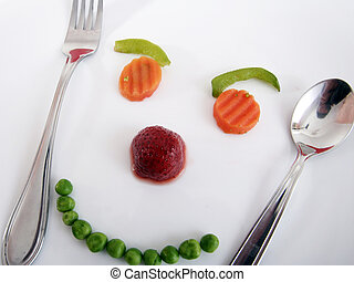 Happy face ! - Happy face mande by vegetables ! Diet...